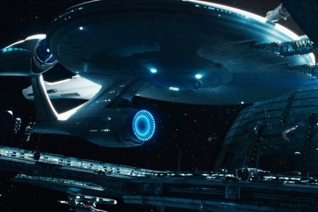 Die angedockte Enterprise NCC-1701