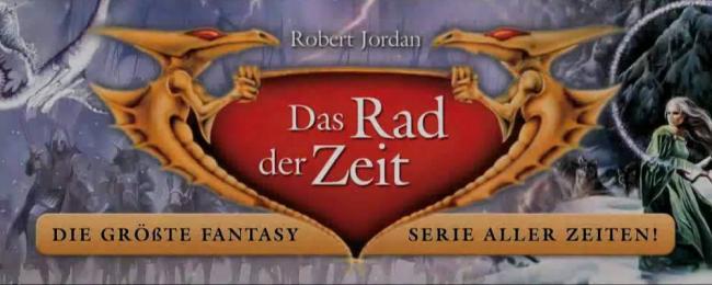 Fantasy-Landschaft mit Text: Das Rad der Zeit, die größte Fantasyserie aller Zeiten