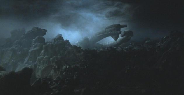 Das außerirdische Raumschiff in Alien