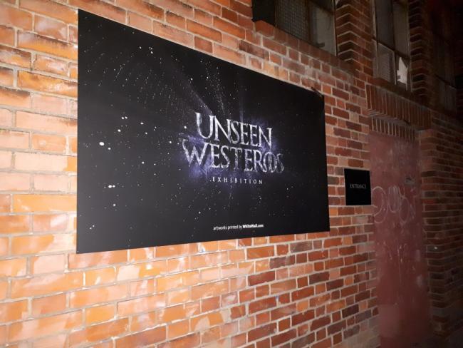 Unseen Westeros Exhibition Entrance