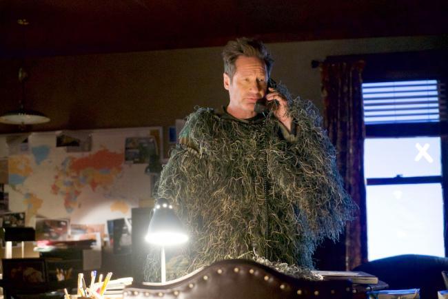 Mulder nach seiner Jagd auf Bigfoot