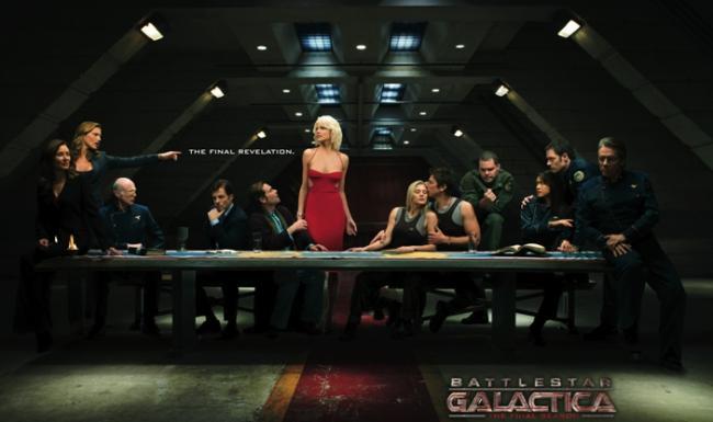 Das letzte Abendmahl - Promotionbild zum Reboot von Battlestar Galactica