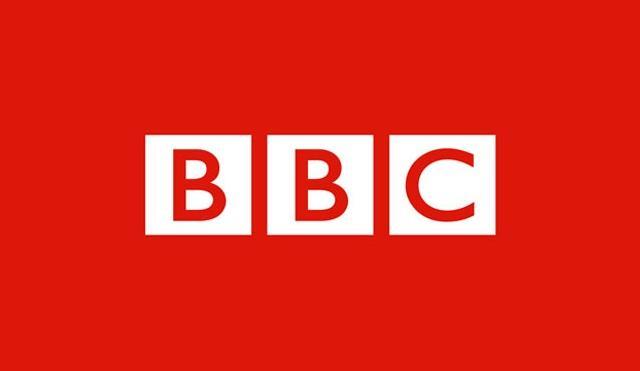 BBC Logo auf roten Hintergrund