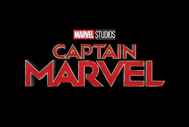 Schriftzug-Logo zu Marvels Captain Marvel