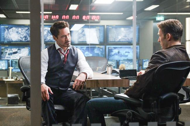 Captain America: Civil War Stark und Rogers