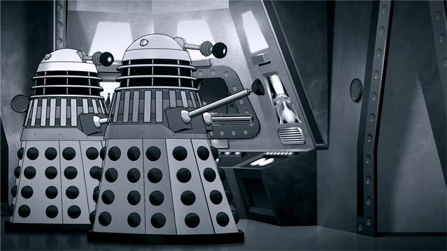 "Szenenbild aus Doctor Who ""The Power of the Daleks"""