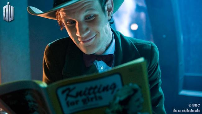 Doctor Who - Eleventh Doctor reading a book
