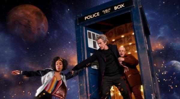 Billy, Twelve und Nardol auf dem Promobild zu Doctor Who Staffel 10 Header