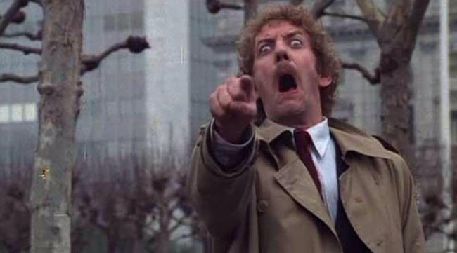 Donald Sutherland 1978 in Die Körperfresser kommen