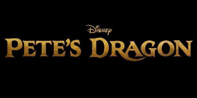 Pete´s Dragon-Schriftzug zum Remake von Elliot, das Schmunzelmonst