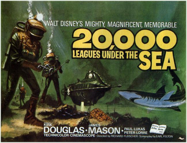 20.000 Meilen unter dem Meer Filmposter 1954
