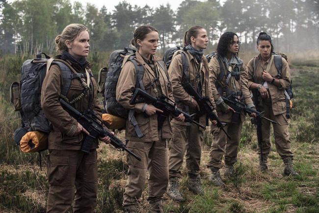 Jennifer Jason Leigh,Tessa Thompson, Gina Rodriguez, Tuva Novotny und Natalie Portman in Annihilation