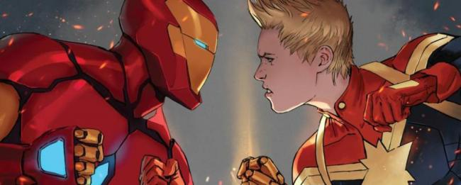 Civil War Iron Man Captain Marvel