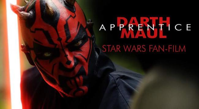 Promobild mit Darth Maul und Schriftzug Darth Maul: Aprentice - ein Star Wars-Fanfilm