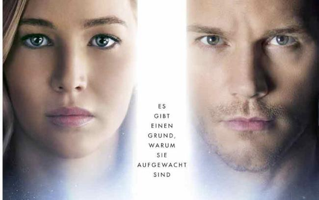 Poster zu Passengers (2017) mit Chris Pratt und Jennifer Lawrence