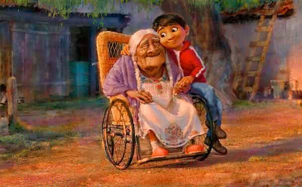 Konzeptillustration des Pixar-Films Coco