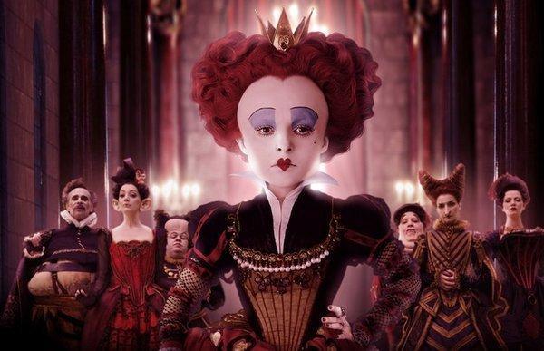 Die Herzkönigin in Alice im Wunderland