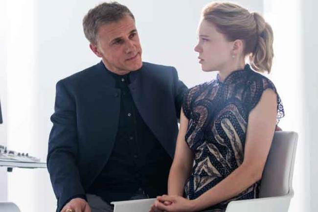 """Christoph Waltz (""""Oberhauser"""") und Léa Seydoux (""""Madeleine Swann"""")"""