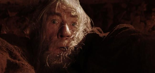 Gandalf in den Minen von Moria