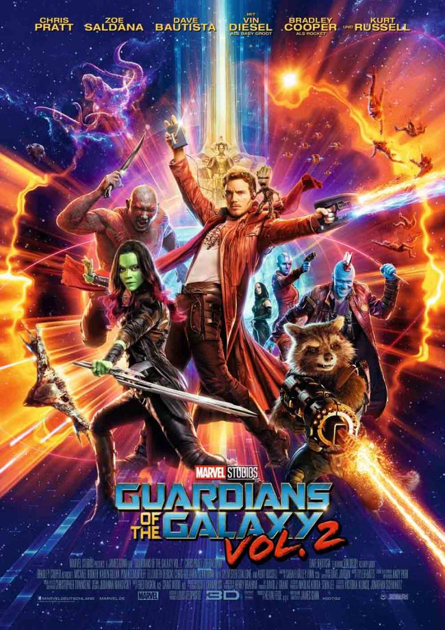 Bildergebnis für guardians of the galaxy 2 plakat