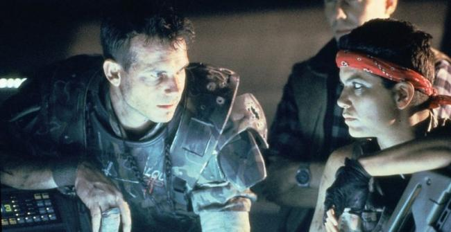 Bill Paxton in Aliens (1986)