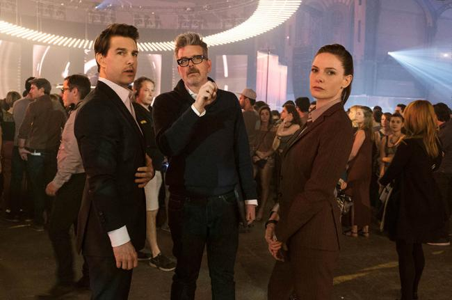 Mission Impossible Regisseur Christopher McQuarrie, Rebecca Ferguson und Tom Cruise