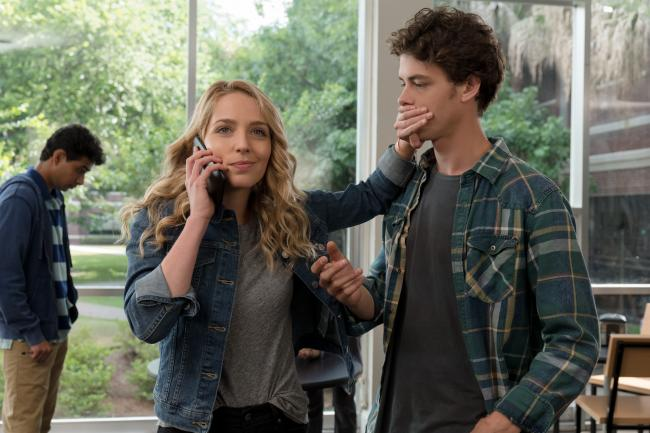 Jessica Rothe & Israel Broussard in Happy Death Day 2U