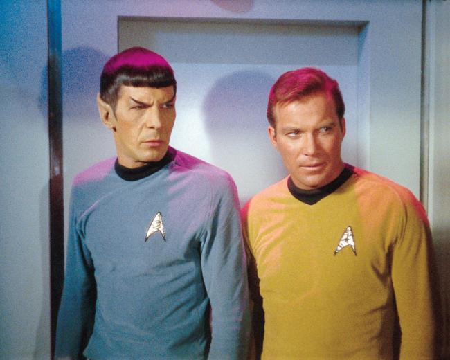 Star Trek: Raumschiff Enterprise mit Kirk und Spock