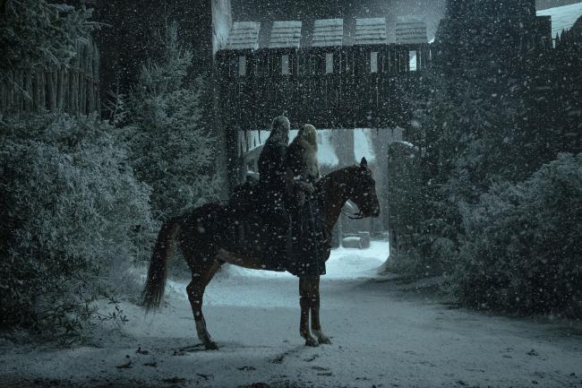 Geralt und Ciri auf Plötze