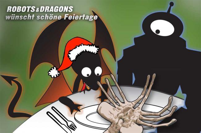 Robots & Dragons wünscht schöne Weihnachten