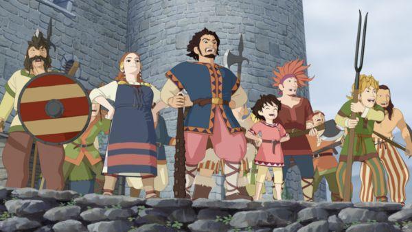 Die Räuberfamilie aus Studio Ghiblis Ronja Räubertochter
