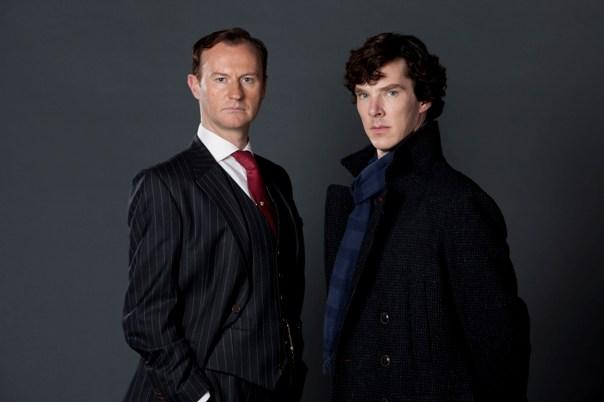 Sherlock und sein Bruder Mycroft Holmes