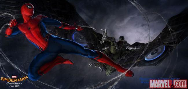 Konzeptdesign von Ryan Meiner für Marvels Spider-Man: Homecoming