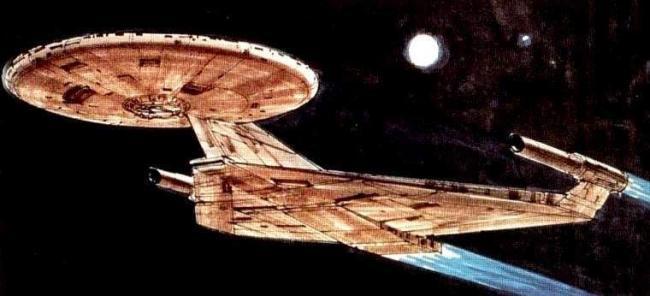 """Konzeptzeichnung von Ralph McQuarrie zu """"Star Trek: Planet of the Titans"""""""