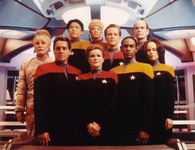 Captain Janeway, Commander Chacotay und Lt. Tuvok