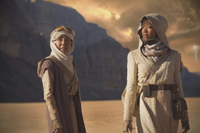 Michelle Yeoh und Sonequa Martin-Green in Star Trek: Discovery
