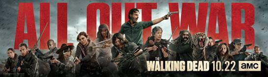 All out War - Key-Art Banner für Staffel 8 von The Walking Dead