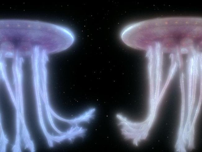 Die Wesen in Mission Farpoint bei Star Trek TNG