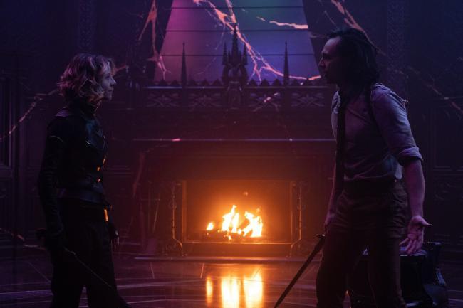 Tom Hiddleston und Sophia Di Martino als Loki und Sylvie