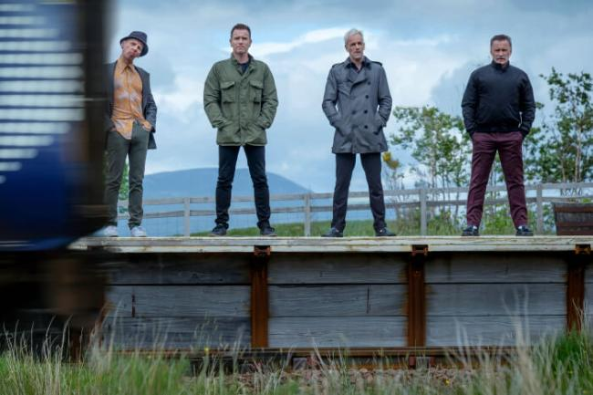 Ewen Bremner, Ewan McGregor, Jonny Lee Miller und Robert Carlyle in T2 Trainspotting