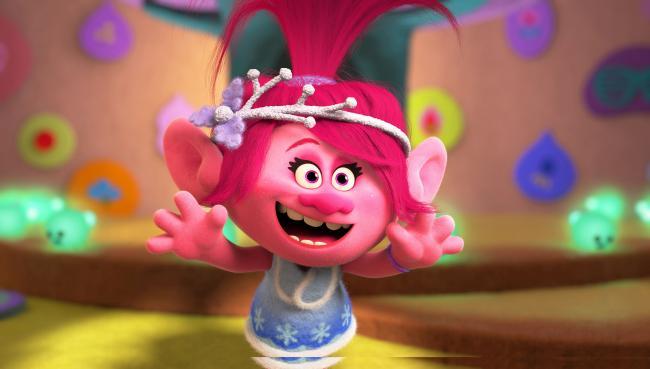 Szenenbild mit Poppy aus Feiern mit den Trolls