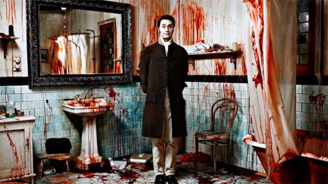 Vampirwohnung mit blutiger Deko