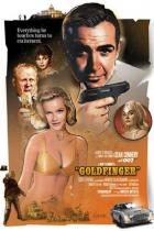 Filmposter James Bond 007 - Goldfinger