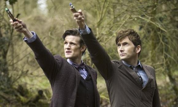 Matt Smith und David Tennant als Doctor Who
