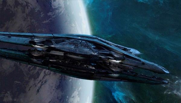 Raumschiff in Battlestar Galactica: Blood and Chrome