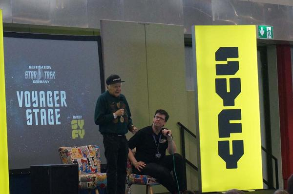 Walter Koenig auf der Voyager-Bühne