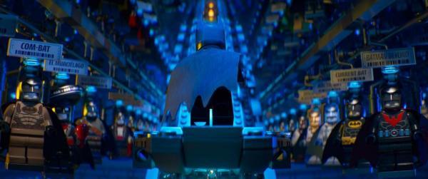Verschiedene Kostüme in The Lego Batman Movie
