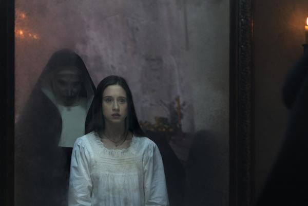 Bonnie Aarons & Taissa Farmiga in The Nun