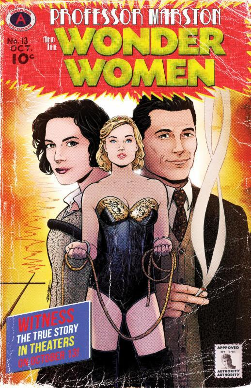Professor Marston & The Wonder Women Poster Comicstil