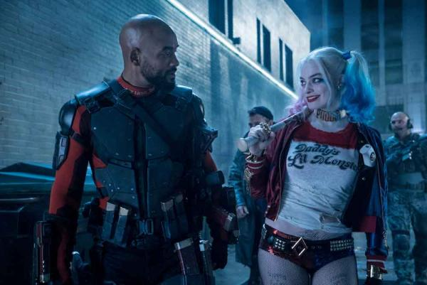 Will Smith als Deadshot und Margot Robbie als Harley Quinn in Suicide Squad